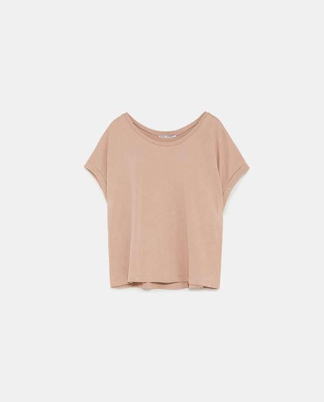 クロップド丈ベーシックTシャツ