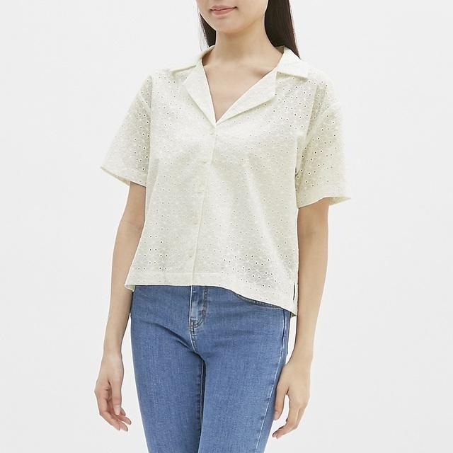 オープンネックシャツ(半袖)