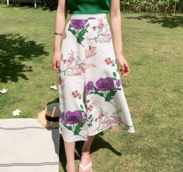 ケシの花スリットスカート