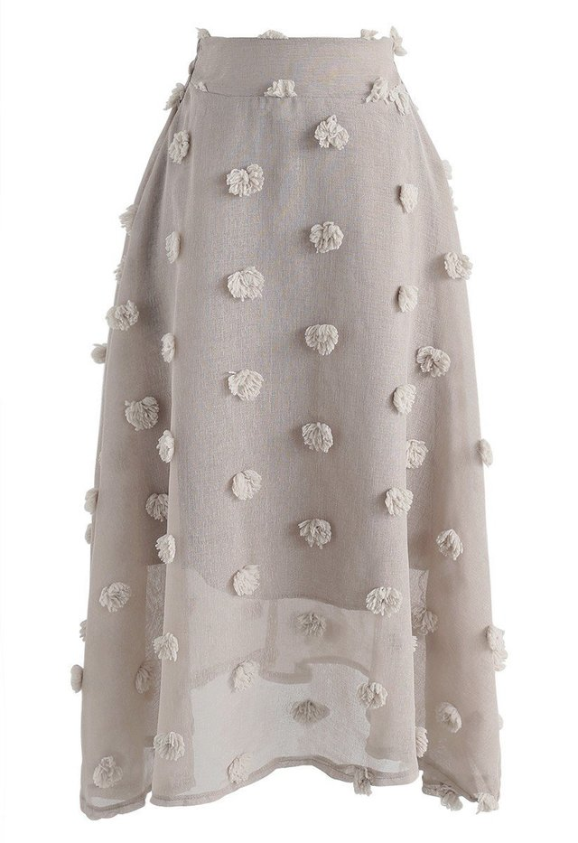 3D花付きスカート