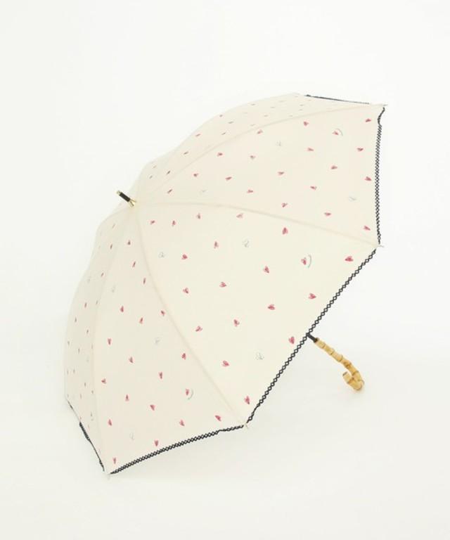 ハート柄長傘 日傘
