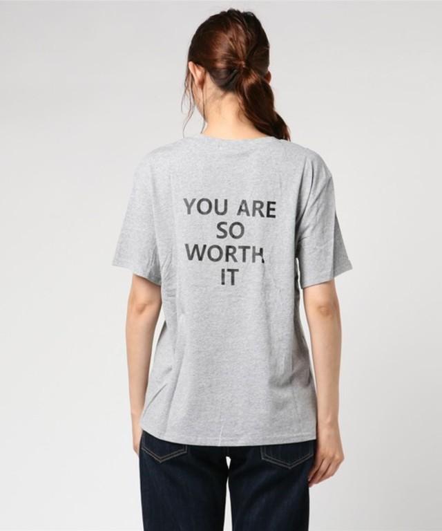 バックメッセージロゴTシャツ