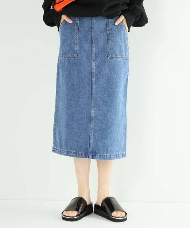 10ozデニムタイトスカート