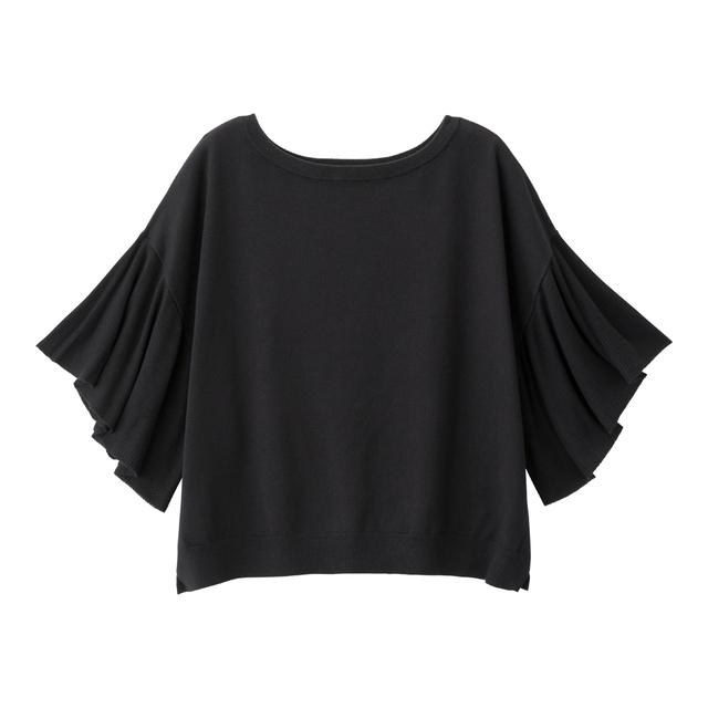 フレアスリーブセーター(5分袖)