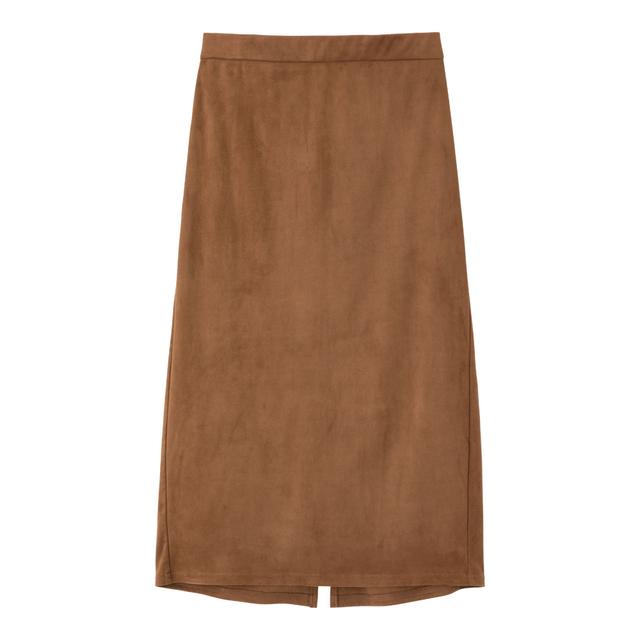 スエードタッチタイトミディスカート