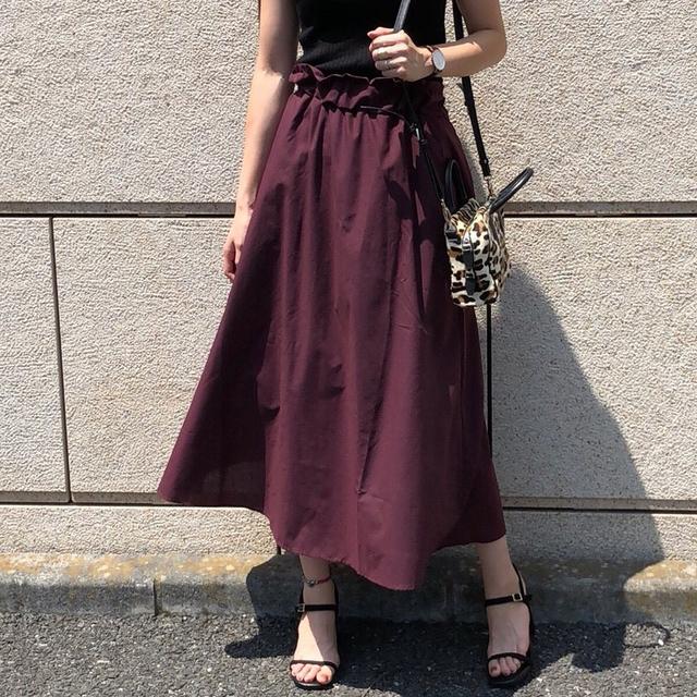 マキシ丈フレアスカート