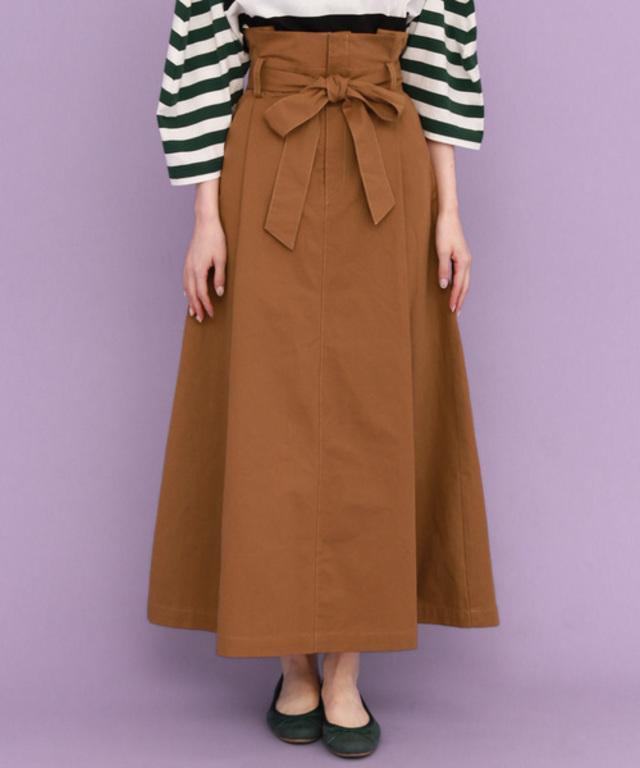 WEB限定 ウエストリボンロングスカート