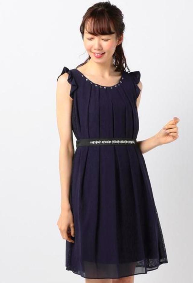 サイドレースリボン ドレス
