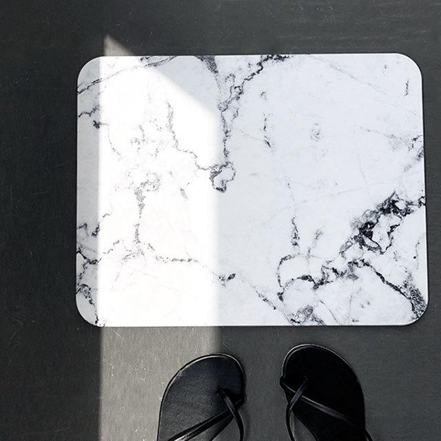 珪藻土 大理石柄 バスマット