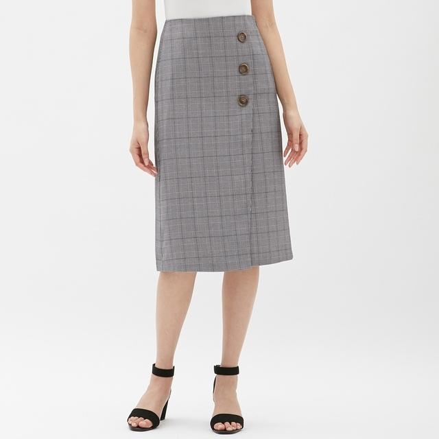 ラップミディスカート