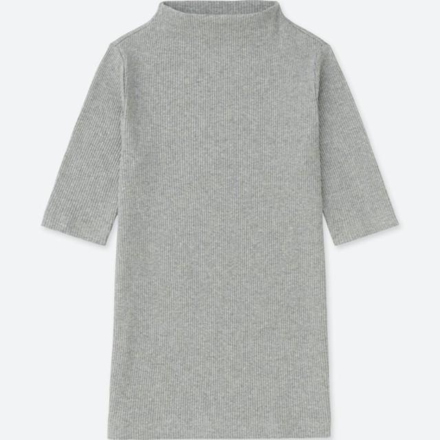 リブハイネックT(5分袖)