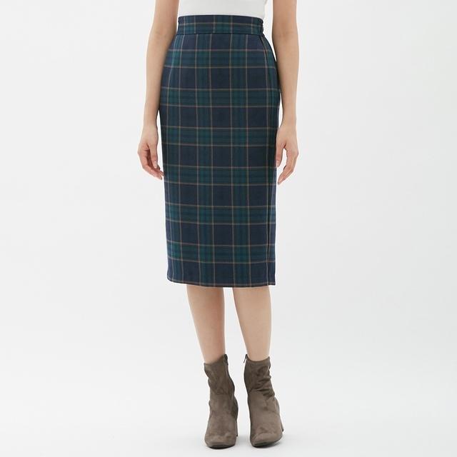 タータンチェックナローミディスカート