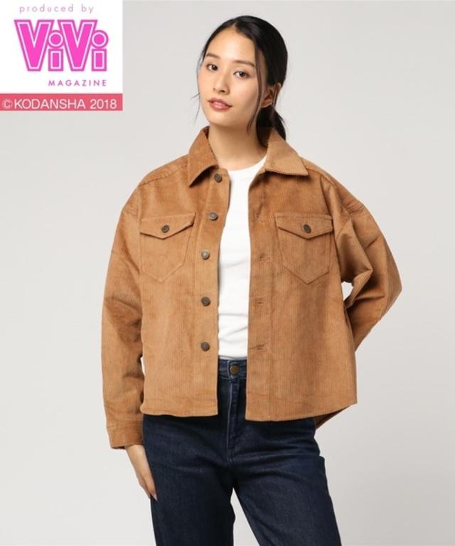 【ViVi11月号掲載】「2PINK(ツーピンク)」コーデュロイビックジャケット