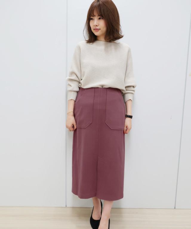 【WEB限定】ウールタッチタイトスカート