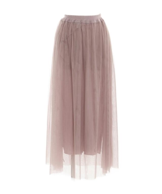 ガーリーチュールロング丈スカート