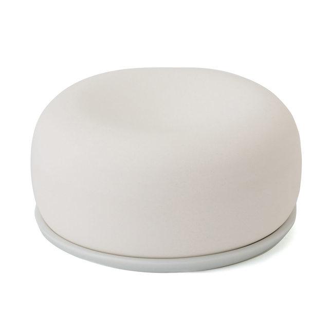 アロマストーン 皿付・白