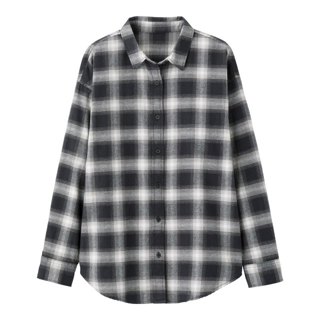 フランネルチェックシャツ(長袖)D