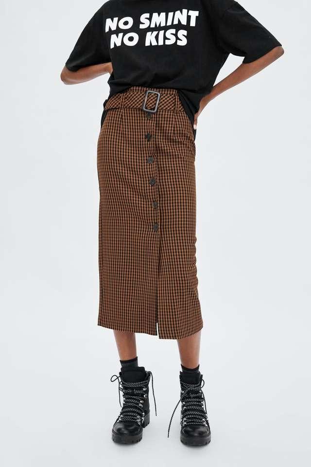 ギンガムチェック柄スカート