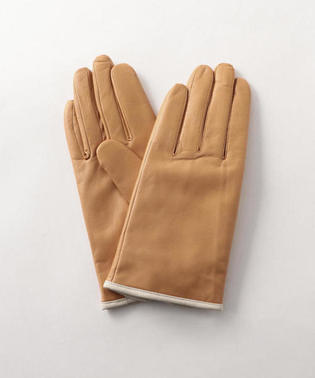 LEATHER CASHMERE GLOVES/グローブ