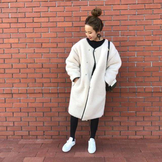 long boa coat