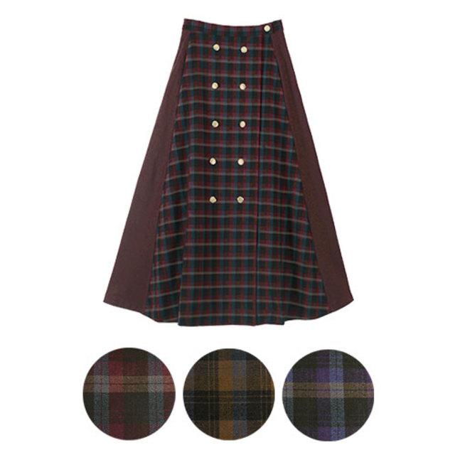 ダブルボタンススカート