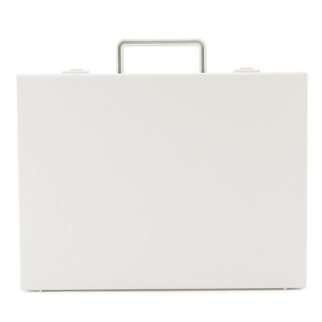 自立収納できるキャリーケース・A4用・ホワイトグレー