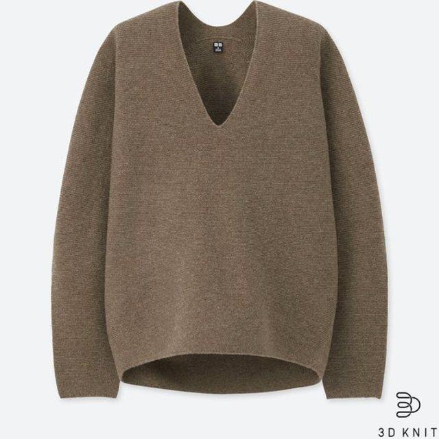 3Dプレミアムラムコクーンセーター