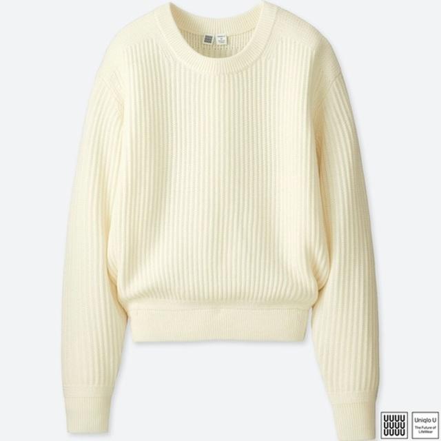 メリノブレンドクルーネックセーター