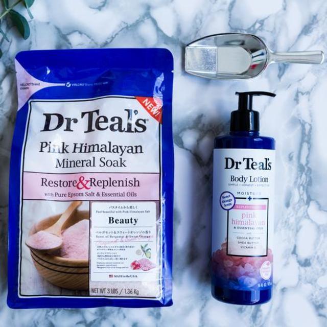 【スコップ付き】Dr Teal's フレグランス エプソムソルト&ボディローションのセット