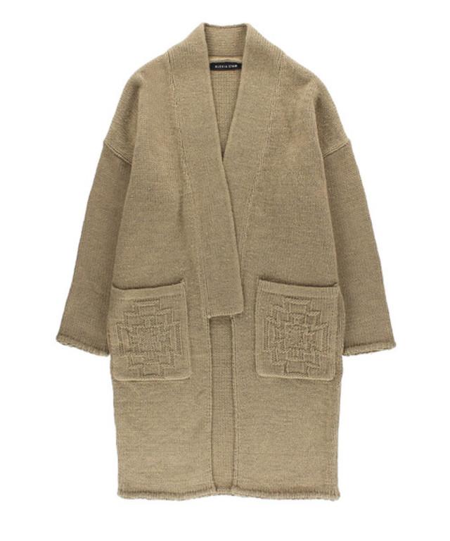Design Pocket Knit Cardigan