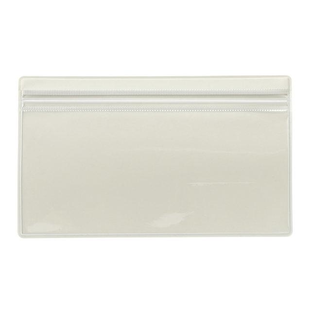 片面クリアケース 100×165mm・ホワイトグレー