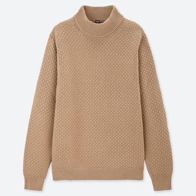 ミドルゲージモックネックセーター(メンズ)