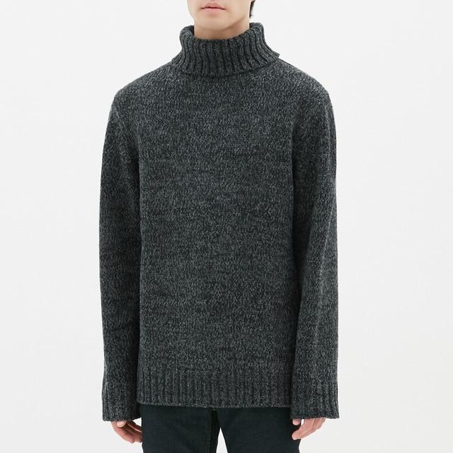 MEN ローゲージタートルネックセーター