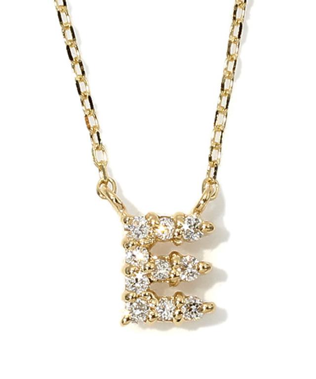 K18YGイニシャル ダイヤモンド ネックレス