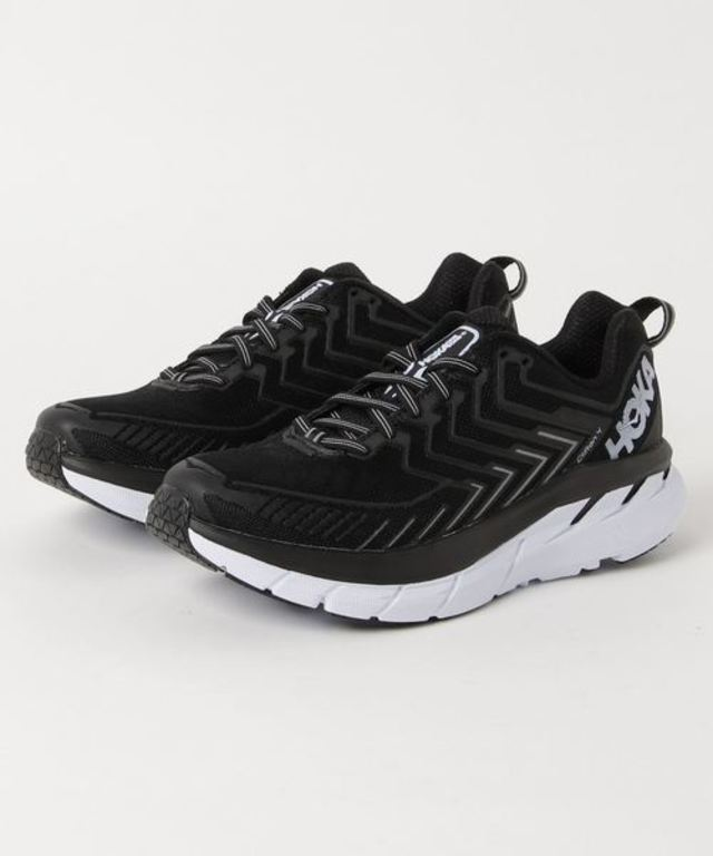 HOKA ONEONE CLIFTON 4 (BLACK / WHITE)