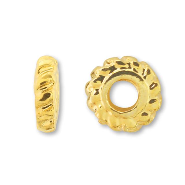 スペーサー24 ゴールド 約4×1.5mm 10個入り