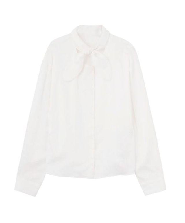 リボンタイシャツ