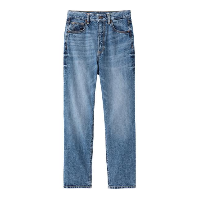ハイウエストストレートジーンズ 64 BLUE