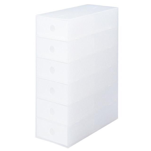 ポリプロピレン小物収納ボックス6段・A4タテ 約幅11×奥行24.5×高さ32㎝