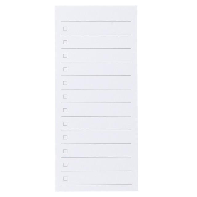 植林木ペーパーチェックリスト付箋紙 約44×98mm・45枚