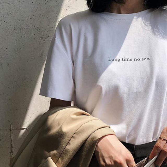 ロゴデザイン Tシャツ ホワイト