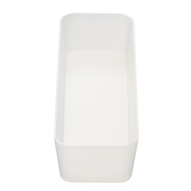 ポリプロピレン整理ボックス2 約幅8.5×奥行25.5×高さ5㎝
