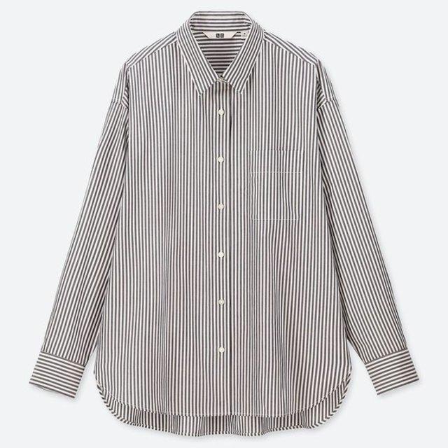 エクストラファインコットンストライプシャツ