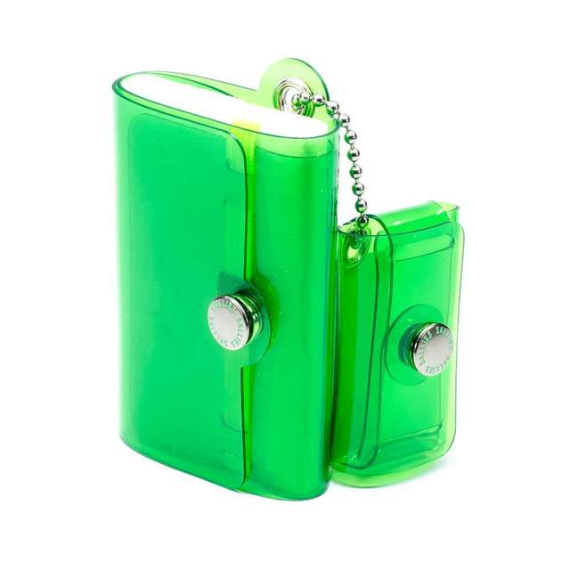 "Minimal Wallet ""Pocket Pal"" CLEAR GREEN 100mm × 60mm × 35mm"