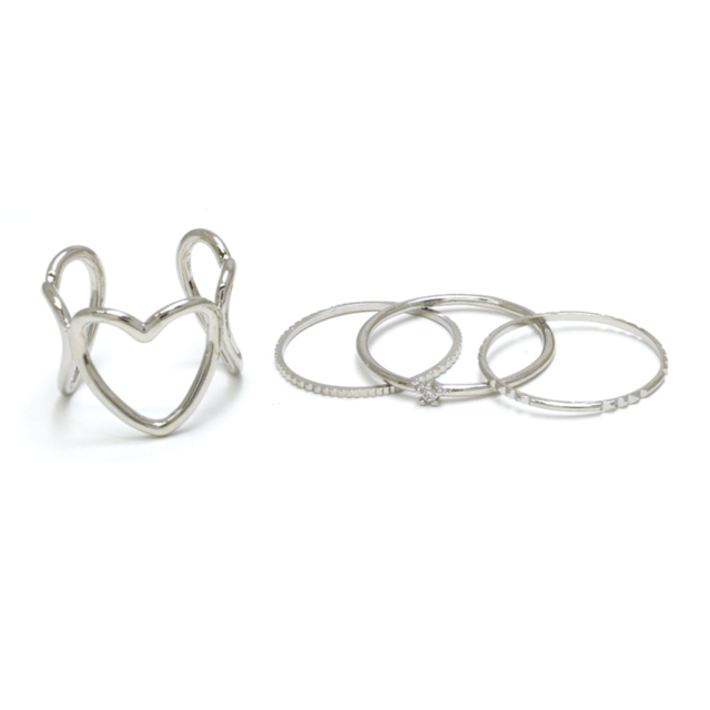 Favorite Ring!セットリング① ロジウムメッキ  11号,12号
