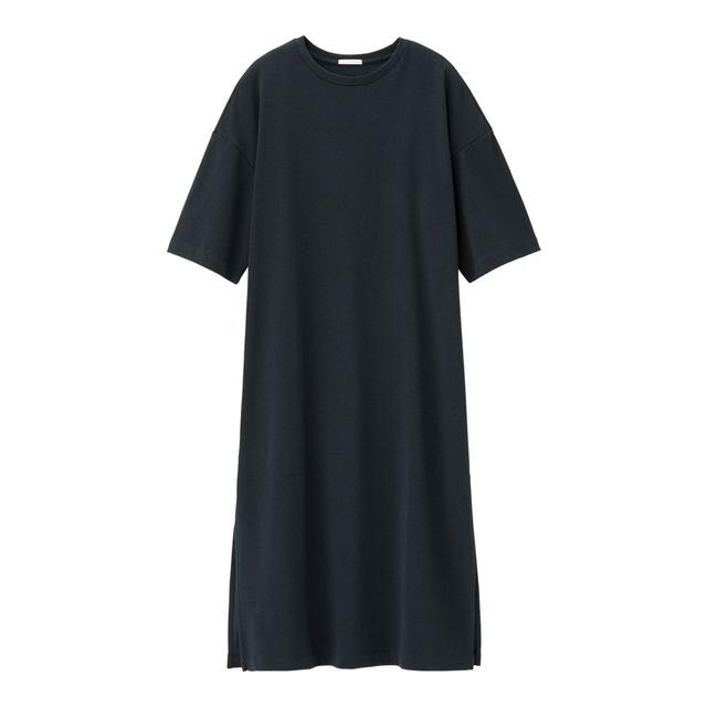 スリットTワンピース(5分袖)