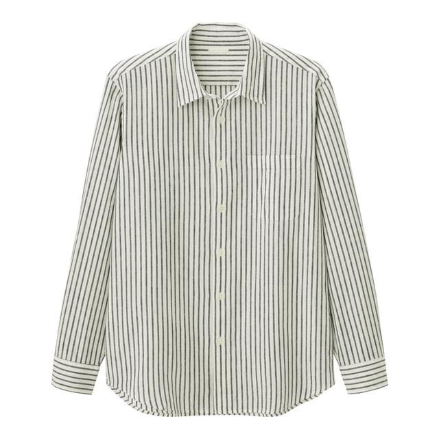 リネンブレンドシャツ
