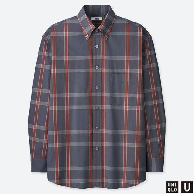ワイドフィットチェックシャツ