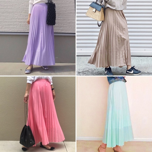 Collaboration Pleated skirt