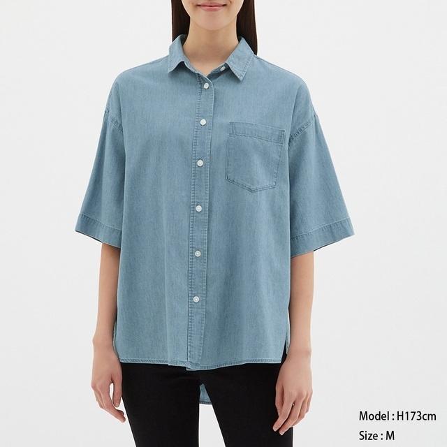 オーバーサイズデニムシャツ